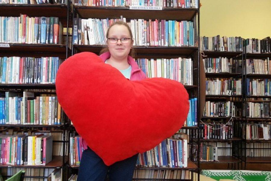 Walentynki w Bibliotece Szkolnej
